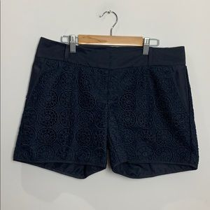 The limited navy lace shorts
